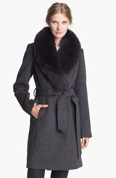 Love this coat from last winter: 1 Madison Genuine Fox Fur Collar Wrap Coat
