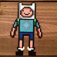 Finn Adventure Time hama mini beads by alana_f13