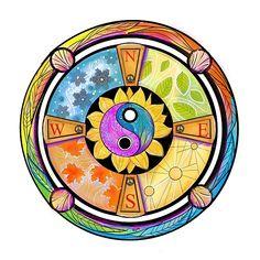 Elements Of Nature, Four Seasons, Drawing Ideas, Mystic, Digital Art, Cross Stitch, Design Inspiration, Wall Art, Drawings