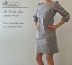 3 étoiles / La Petite Robe - Vanessa Pouzet / Tissu Remember Me - Atelier Brunette