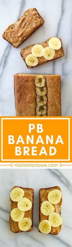Gluten-free banana bread is so delicious for breakfast! It's also refined sugar-free, so you can eat a slice or two without any guilt! // www.mariamarlowe.com