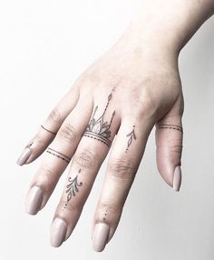 Finger tattoos by Joanna. Done at Chronic Ink Tattoo - Toronto, Canada