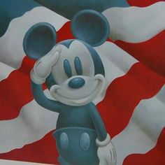 Mickey salutes in honor of #MemorialDay.