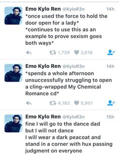 Emo Ren tweets are the best.
