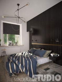 CZERN W SYPIALNI Curtains, Bed, Furniture, Home Decor, Blinds, Decoration Home, Stream Bed, Room Decor, Home Furnishings