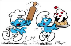 The Smurfs, by Peyo. Blue and Belgian. Vintage Cartoons, Classic Cartoons, Childhood Characters, Comic Book Characters, Looney Tunes Cartoons, Cool Cartoons, Disney Princess Cartoons, Smurfette, Cartoon Toys