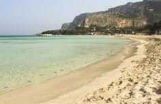 Playa Mondello de Palermo, Sicilia, Italia