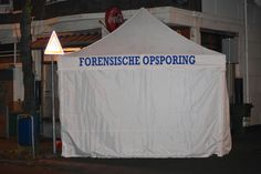 Forensic Investigations can take some time. So we use a tent to work in peace and protect any traces on the crime scene.