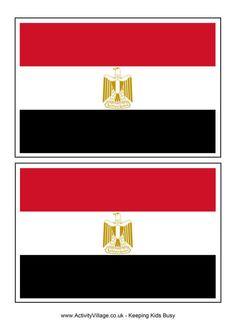 Egypt flag printable for World Thinking Day