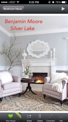 Benjamin Moore Silver Lake Walls