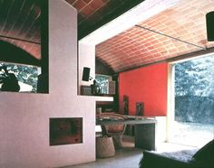 Maisons Jaoul, Le Corbusier, 1955 - lateral thrust increases as rise of arch decreases, steel tie bar/