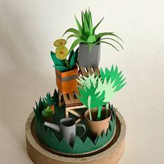 Paper craft DIY kit // #cutpaper #papercraft #DIYkit #craftkit 3d Paper, Paper Gifts, Paper Craft, Craft Kits, Diy Kits, Paper Cutting Templates, Paper Artist, Glass Domes, Diy And Crafts