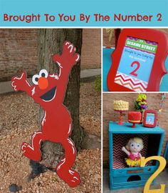 "Sesame Street Birthday Party:  ""Brought to you by the number 2!"""