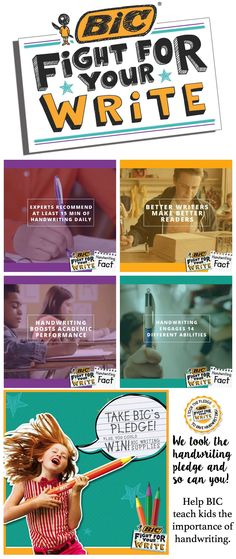 4 Ways to Make Handwriting Fun for Children #spon #BICFightForYourWrite