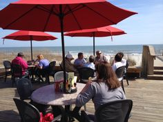 Great day to dine by the ocean at the Dunes House (now open for the season) at Palmetto Dunes on Hilton Head Island. Sunny and 63!