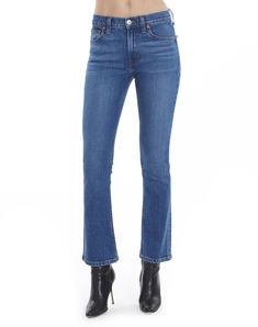 Mid Rise Kick Flare Crop in Mid 70s Wash | RE/DONE Jeans