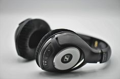 A headphone is a sound output device with a design that allows it to be directly positioned or mounted on the ear.