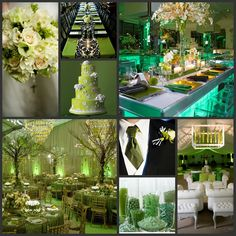 St. Patrick's Day is right around the corner! This Theme Thursday incorporates a variety of green decor that is vibrant yet elegant. It is the perfect color scheme for a start of Spring wedding!