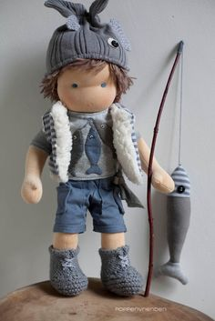 poppenvrienden: the tiny fisherman boy doll