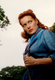 Maureen O'Hara - The Quiet Man. What a great old movie with John Wayne.