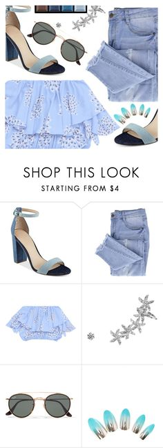 """""""Untitled #3272"""" by deeyanago ❤ liked on Polyvore featuring GUESS, Essie, Ray-Ban and Clé de Peau Beauté"""