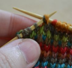 How to Turn a Heel When Knitting a Sock: Working the Wrapped Stitch on the Knit Side
