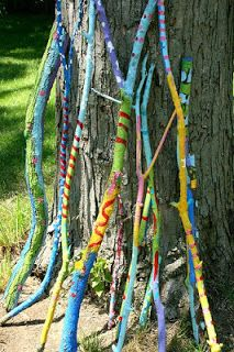 decorated walking sticks - Google Search