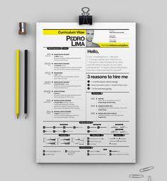 CV by Pedro Lima, via Behance