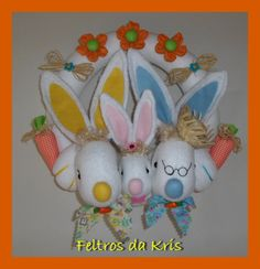 Guirlanda Avós coelhos com Netinha,fofura demais.