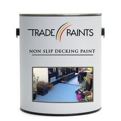 Hard wearing polyurethane non slip paint designed to seal and colour exterior decking. Provides anti