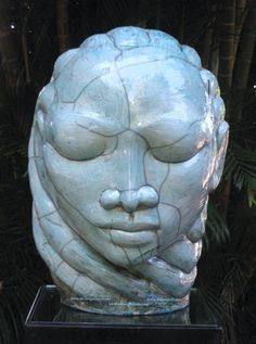 'Green Madonna' -  By Gene Pearson O.D, A distinguished Jamaican sculptor/ceramist.