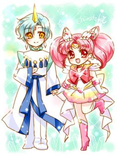 Chibiusa and Helios Sailor Moons, Sailor Moon Manga, Sailor Saturn, Sailor Moon Crystal, Arte Sailor Moon, Sailor Moon Fan Art, Sailor Venus, Sailor Scouts, Chibiusa Y Helios