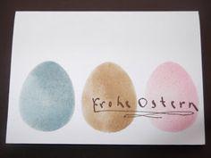 Osterkarte mit dem Stampin up Color-Spritzer