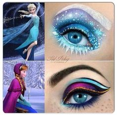 Frozen inspired makeup
