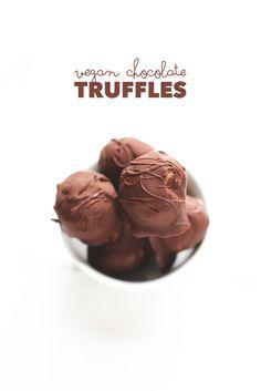 4-Ingredient Vegan Chocolate Truffles
