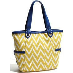 Love yellow and blue together.  Love bold prints.