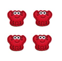Cute Crab felt  applique embellishment felties 4 by EmbroiderThat, $3.95