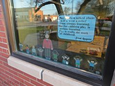 Exterior photo of our new Fred Rogers window display that will feature a new quote every month   hafuboti.com