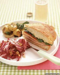 Pressed Salami Sandwiches Recipe