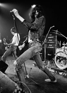 """Joey Ramone at the Roundhouse, 1977, by Denis O'Regan """