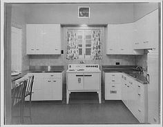 1930s kitchen. these are my 1939 original kitchen cabinets. i kept