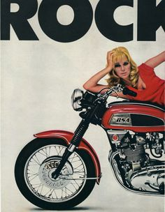 BSA Rocket 3 motorcycle two page vintage by catchingcanaries