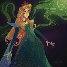 Disney Fanatic, Disney Nerd, Disney Fan Art, Cute Disney, Disney Girls, Disney Style, Sleeping Beauty Art, Sleeping Beauty Maleficent, Disney Princess Art