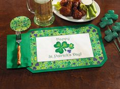 Celebrate the luck of the Irish and save some green with our St. Patrick's Day Combo Pack™. This laborsaving kit features 200 placemats, 200 Jade dinner napkins and bonus printed coasters!