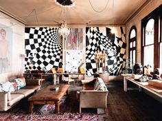 Tour the Incredible Melbourne Home of Artist David Bromley: This extravagant studio is one of a kind. via @mydomaine