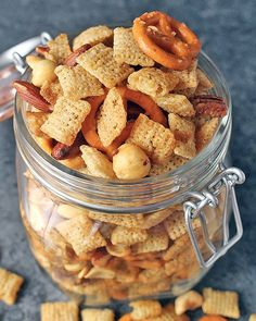 This Coconut Oil Chex Mix is easy and packed with flavor. A couple changes takes this classic snack mix and turns it gluten free, dairy free, and vegan.