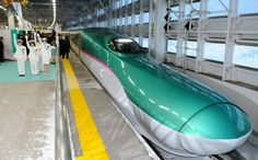 Hayabusa bullet train, Japan. #BulletTrain #Japan the real japan, real japan, train, trains, bullet train, shinkansen, monorail, nozomi, sakura, tram, japan, japanese, rail, travel, tour, local, jr, rail pass, railpass, japan rail, tour, trip, journey, explore, adventure, vacation, holiday http://www.therealjapan.com/subscribe