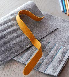 felt roll (for sewing needles/crochet hooks)