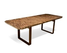 Dale Italia Tables in solid walnut and metal legs - Natural Finish
