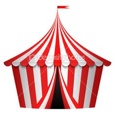 Vector illustration of circus tent by yuliaglam - Imagen vectorial
